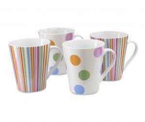 Сервиз 4 чаши Color Baubles 355 мл