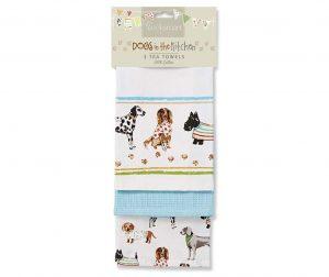 Комплект 3 кухненски кърпи Show Dogs 45x65 см