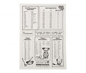 Кухненска кърпа Weights and Measures 45x65 см