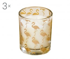 Комплект 3 свещи Flamingo