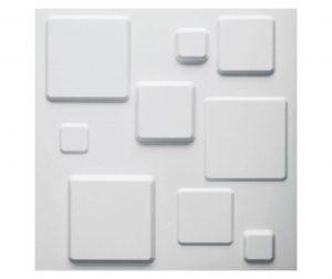 Комплект 12 декоративни пана 3D Squares