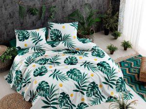 Спално бельо Double Pique Monstera Green 200x235