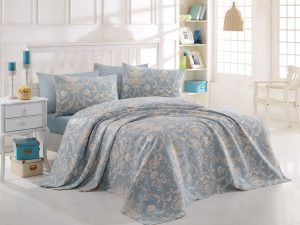 Спално бельо Double Pique Tuval Blue 200x235