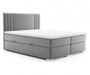 Легло с място за съхранение Saint Light Grey 140x200 см