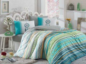 Спално бельо Single Ranforce Eva Green 160x220
