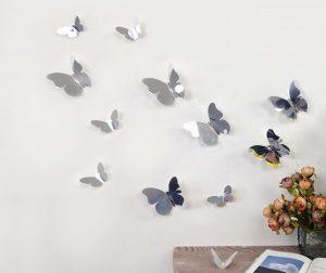 Комплект 12 стикера 3D Mirror Butterflies